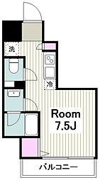 JR京浜東北・根岸線 川崎駅 徒歩4分の賃貸マンション 2階ワンルームの間取り