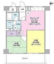 溝の口セントラルマンション[3階]の間取り