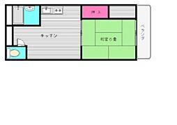 サンハイツ三嶋[402号室]の間取り