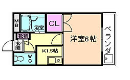 中央日進ビル[5階]の間取り