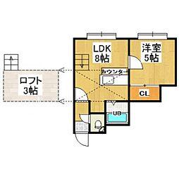 AMS桜D棟[105号室]の間取り