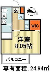 新京成電鉄 高根木戸駅 徒歩4分の賃貸アパート 1階1Kの間取り