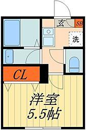 JR京浜東北・根岸線 蕨駅 徒歩9分の賃貸マンション 4階1Kの間取り