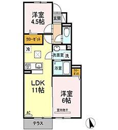 仮)D-room乙島 B[102号室]の間取り