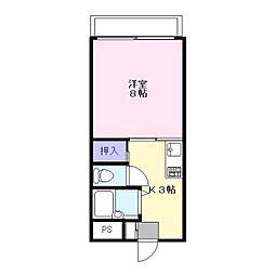 マナーハウス[202号室]の間取り