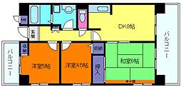 プロスペリテ神戸[8階]の間取り