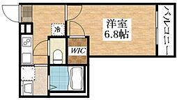 JR関西本線 東部市場前駅 徒歩10分の賃貸アパート 1階1Kの間取り