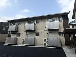 栃木県宇都宮市西川田本町1丁目の賃貸アパートの外観