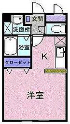 埼玉県川越市大字的場の賃貸マンションの間取り