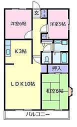 パークレジデンス[1階]の間取り