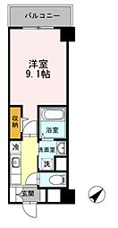 Hill Flat Osaki 2階1Kの間取り
