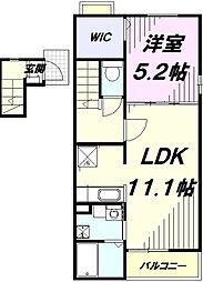 JR青梅線 昭島駅 徒歩22分の賃貸アパート