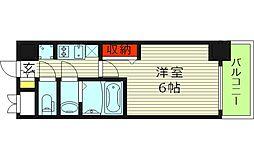 レオンコンフォート京橋EAST 8階1Kの間取り