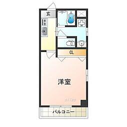 Osaka Metro四つ橋線 花園町駅 徒歩6分の賃貸マンション 8階1Kの間取り