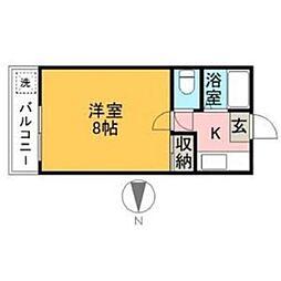 第2岩田ビル[0202号室]の間取り