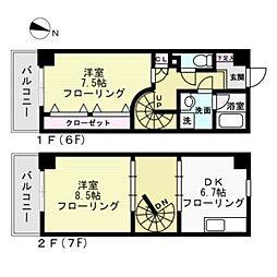 ワイズノート[6階]の間取り