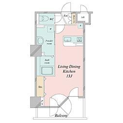 札幌市営東西線 大通駅 徒歩3分の賃貸マンション 8階ワンルームの間取り