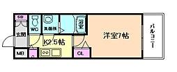 プレサンス大阪福島シエル[11階]の間取り