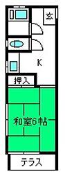 宮原荘[103号室]の間取り