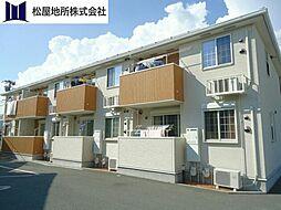 愛知県豊橋市瓜郷町前川の賃貸アパートの外観