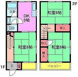 [テラスハウス] 千葉県市川市大和田5丁目 の賃貸【/】の間取り