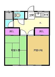 第一平安荘[101号室]の間取り