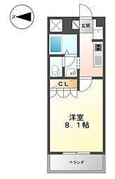 アートメゾン倉敷[402号室]の間取り