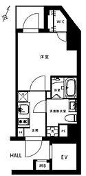 都営大江戸線 赤羽橋駅 徒歩6分の賃貸マンション 3階1Kの間取り