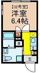 VILLETTINA浅草 5階1Kの間取り