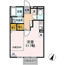エクセル東合川[2階]の間取り