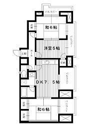 東京都練馬区土支田1丁目の賃貸マンションの間取り