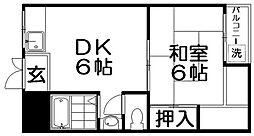 寝屋川コーポラスⅠ[3階]の間取り