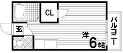 ハイツ潮見台[2階]の間取り