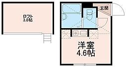 プライムテラス中野島[2階]の間取り