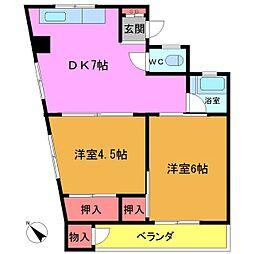 土谷マンション[2階]の間取り