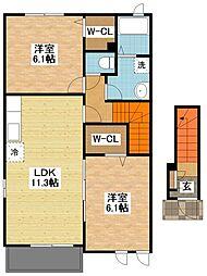 メゾンボヌールA[2階]の間取り