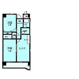 メゾンパークス5階Fの間取り画像
