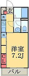 JR総武線 津田沼駅 徒歩12分の賃貸マンション 3階1Kの間取り