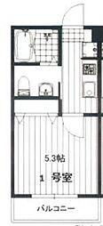 仮称)海神1丁目アパート 3階1Kの間取り