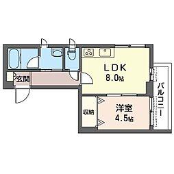 仮)豊島区巣鴨3丁目シャーメゾン 2階1LDKの間取り