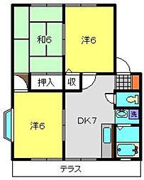 メゾンドールA[2階]の間取り