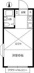 スーマ国分寺[201号室]の間取り