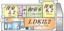 兵庫県神戸市兵庫区中道通8丁目の賃貸マンションの間取り