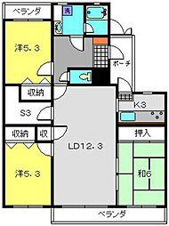 東白楽マンション[2階]の間取り