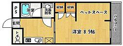 サンコーポ南片江[502号室]の間取り