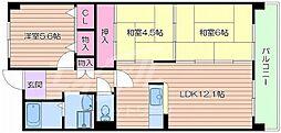 レスポワール都島[2階]の間取り
