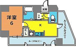 リーガル神戸元町[1104号室]の間取り