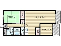 旭シィックスマンション[7階]の間取り