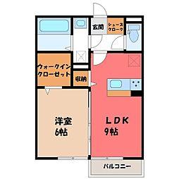 メゾン ド キャレ I 2階1LDKの間取り