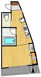 第131新井ビル[503号室]の間取り
